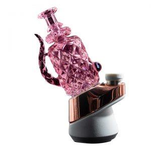 Badabing | Puffco Peak Dab Rig Attachment | Crystal Pink Deep Cut