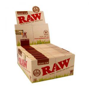 RAW | Organic Hemp Kingsize Slim Rolling Papers | Box of 50