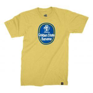 Golden State Banana | Blue Dot T-Shirt in Yellow
