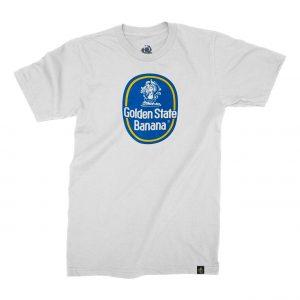 White Golden State Banana Blue Dot T-Shirt
