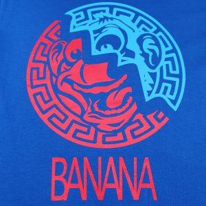 Golden State Banana | Aztec Warrior T-Shirt in Blue
