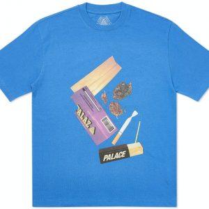 Palace | Skin Up Monsieur T-shirt | Blue
