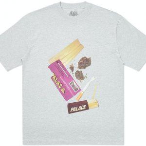 Palace | Skin Up Monsieur T-shirt | Grey