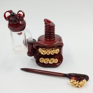 Frostys Fresh | Mini Dab Rig Gold Set | Opaque Dragon's Blood