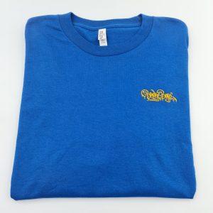 Broke Boyz | Blue T-Shirt | Yellow Logo