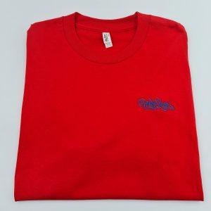 Broke Boyz | Red T-Shirt | Blue Logo