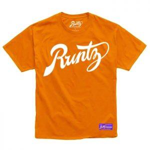 Runtz | Script T-Shirt | Orange & White