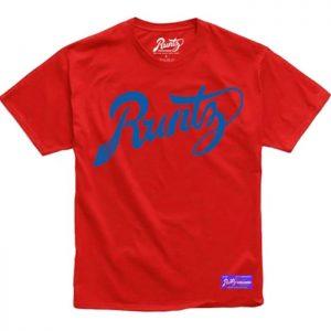 Runtz | Script T-Shirt | Red & Blue