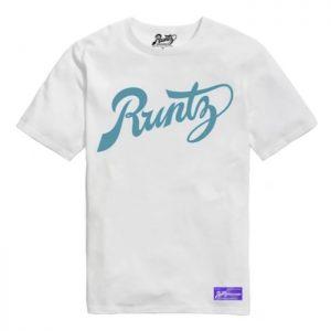 Runtz | Script T-Shirt | White & Blue