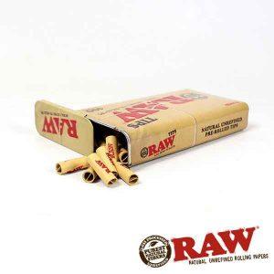 RAW   Metal Tin w/ 100 Classic Pre-Rolled Tips